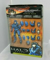 HALO REACH SPARTAN AIR ASSAULT ARMOR PACK NEW SEALED SET BLUE SERIES 4 ODST