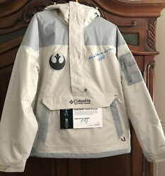 COLUMBIA CHALLENGER JACKET STAR WARS LIGHT SIDE SIGNED BY MARK HAMILL XL 1 of 25