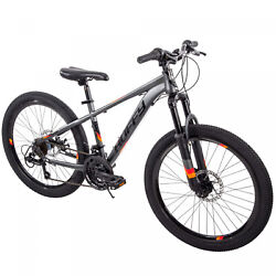 24 Inch Scout Boys Hardtail 21-Speed Mountain Bike with Disc Brakes Kids Bicycle