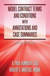 Model Contract Terms and Conditions with Annotations and Case Summaries Like...