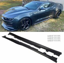For 16-20 Camaro RS SS EOS ZL1 Style BLACK Side Skirts Panel Extension Body $127.50