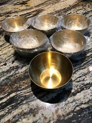 Lot Of 6 Each Solid Brass Bowl 5quot;x2quot; inch Deep Bowl $20.00