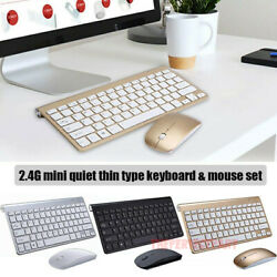 Mini Wireless Keyboard And Mouse Set Waterproof 2.4G For Mac Apple PC Computer $13.98