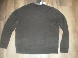 Mens Charcoal Gray Sweater by Tricots St. Raphael Size XL NWT