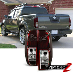 Fits 2005-2014 Nissan Frontier SC [Red Smoke] Rear Brake Tail Lights Left Right $76.96