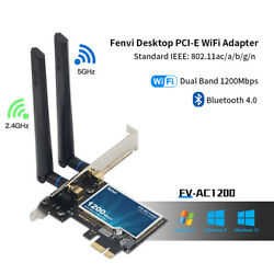 Desktop PCIE WiFi Adapter 1200Mbps 2.4G 5Ghz PCIe Network wifi Card Bluetooth4.0 $19.94