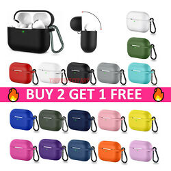 For Apple Airpods Pro 3 Wireless Charging Silicone Case Cover Protective Skin $4.89