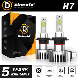 H7 LED Headlight Bulbs Conversion Kit Hi Lo Beam 2200W 330000LM Super Bright
