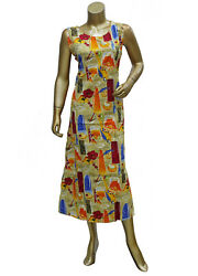 Multi Color Sleeveless Caftan Paisley Printed Cotton Gown Maxi for Women#x27;s $8.61