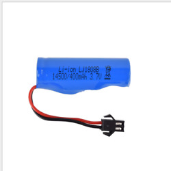 14500 400mAh 3.7V SM 2P Plug 51*14mm Battery For RC Drone Electric Car Toys $12.75