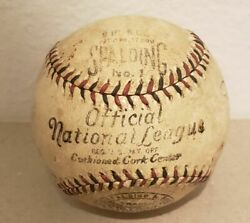 1929 1936 Official International National League NL Spalding Baseball Knapp WoW $549.99