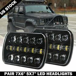 Pair 400W 7x6 5x7 LED Headlight Hi Lo Beam DRL For Chevrolet Jeep Cherokee XJ $56.99