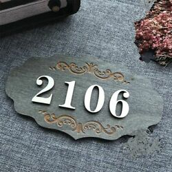 Wooden Home Apartment Door Number Plate Custom Signs Sticker Homes Letters Villa $28.04