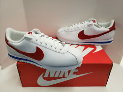 NIB Mens Nike Cortez Basic Leather White Varsity Royal Varsity Red 819719 103 $69.95