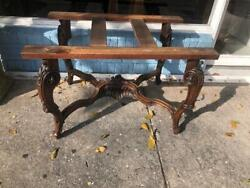 Antique Carved Walnut French Table Base $412.50