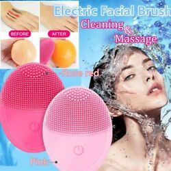 Electric Face Facial Cleansing Brush Rechargeable Silicone Cleanser Skin Care $5.38