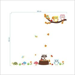 Kid Gift Owl Tree Wall Decal Home Art Decors Removable Kid Bedroom Stickers US $6.59
