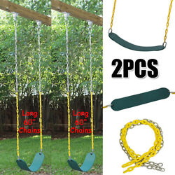 2Pack Swing Seat Heavy Duty 60quot; Chain Plastic Coated Kids Playground Accessories $49.44