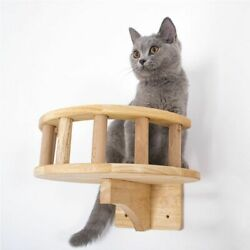 Pet Furniture Wooden Climbing Frame Cat Wall Steps Cat Tree Tower Wall Hanging $119.01