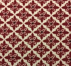 LACEFIELD DESIGNS EVA LARGE SCALE RED FLORAL MEDALLION FABRIC BY YARD 54quot;W $10.99