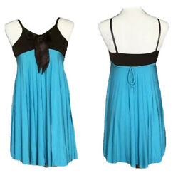 Accordion Style Formal Girls Dress Blue and Brown Size 14 Girls $16.00