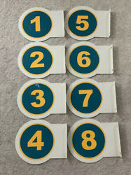 Lot of 8 Used Gas Pump Number Signs For Gas Station Pump $500.00