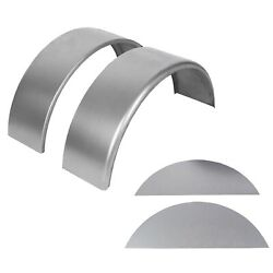 Pair of Round Trailer Fenders 14quot; 16quot; wheels amp; Fender backs Steel $78.90