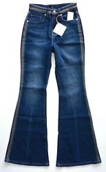 Lee Vintage Modern Rainbow Stockton High Rise Flare Stretch Jeans Free People $49.99