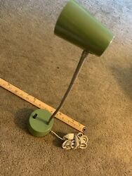 Vintage Mid Century Hamilton Small Green Desk Lamp Light working $35.00