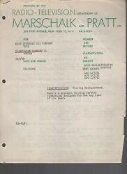 1951 TV Script of a commercial for Esso Standard Oil Co Touring Service