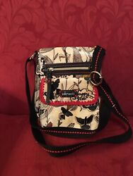 Sakroots Purse Sling Shoulder Bag Nature Free Nature 16 In. Strap 40 Cream New $22.99
