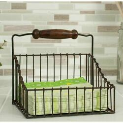 Rustic Country Wire Farmhouse Napkin Holder Caddy $22.75