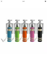 Mini Selfie Stick The Smallest Wired Foldable All in one Monopod.5 Colors $5.00