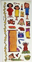 Sleepover Slumber Party Girls Provo Craft RARE 12quot; Stickers $1.35