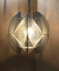 Mid Century Pendant Light Lucite? Chandelier String Paul Secon Sompex Hollywood $382.50