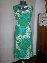 True Vintage Dress Tizzie by Gregg Draddy with Beautiful Colorful Pattern 60's? $18.00