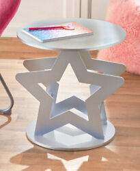 Novelty Silver Star Shaped Room Accent Table for Kids Teenagers Room $39.98