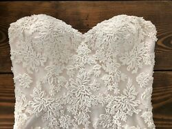 Country Style Lace Wedding Dress New Unused 2017 Cream Color Strapless