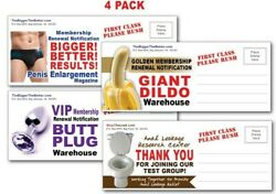 4 PACK Adult PRANK Mail Postcards FUNNY Joke Revenge Gag Gift Novelty Funny $9.99