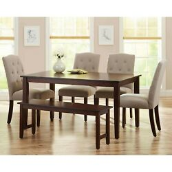 Dining Room Table Set Modern Wooden Kitchen Table Sets With Chairs And Bench $714.76