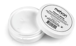 MEHRON MAKEUP CLOWN WHITE PROFESSIONAL STAGE MAKEUP FACE BODY CREAM PAINT 2.25OZ $8.95