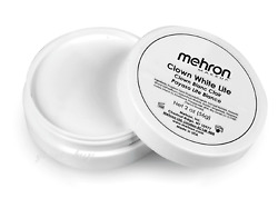 MEHRON MAKEUP CLOWN WHITE LIGHT PROFESSIONAL STAGE FACE BODY CREAM PAINT 2.OZ. $8.95