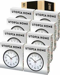 Analog Wall Clock 12 Inches Large in Pack of 8 Utopia Home $6.00