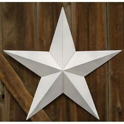 Vintage Farmhouse White Tin Barn Star Primitive Rustic Decor 3.5quot; 12quot; 18quot; 24quot; $18.00