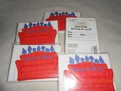 New lot 5 packs Hallmark party express Surprise Party 8 invitations amp; envelopes $8.50