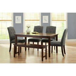 Dining Room Table Set Modern Wood Kitchen Table Sets With Upholstered Chairs $702.08