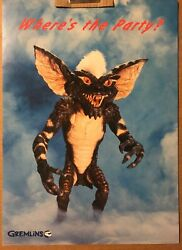 """1984 HALLMARK GREMLINS POSTER STRIPE """"WHERE'S THE PARTY"""" 14x19 WARNER BROTHERS $59.99"""