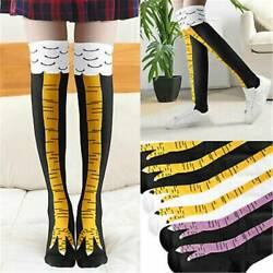 3D Animals Thigh Funny Novelty High Cartoon Stocking Chicken Leg Socks Womens $7.34
