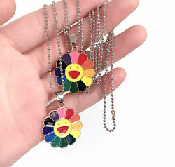 Fashion Alloy Classic Pendant Necklace Murakami Sun Flower Sunflower Colorful