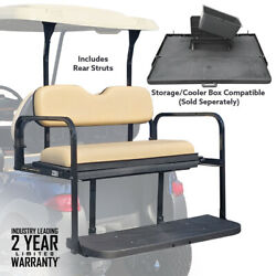 Club Car Precedent Rear Flip Seat Folding Buff Cushions 2004-Up Golf Carts $329.95